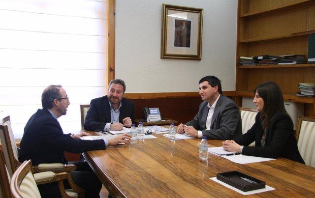 Reunión de Soro con representantes de Tradime.