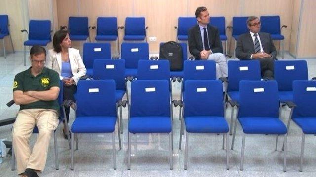 Urdangarin, Torres, Tejeiro y Bonet en el juicio de Nóos