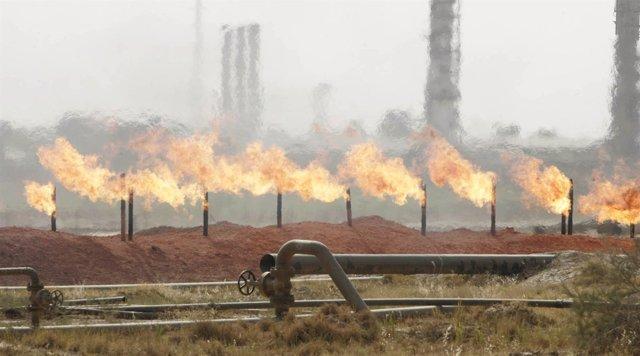 Instalaciones petroleras en Kirkuk