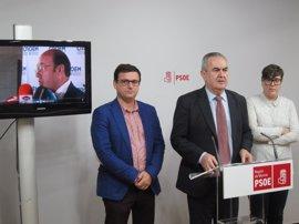 """El PSOE-RM exige la dimisión de Pedro Antonio Sánchez y anuncia """"medidas políticas"""" si hay """"enrocamiento"""""""