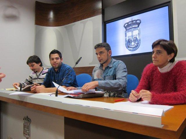 Los concejales Ignacio Fernández, Rubén Rosón, Iván Álvarez y Ana Rivas