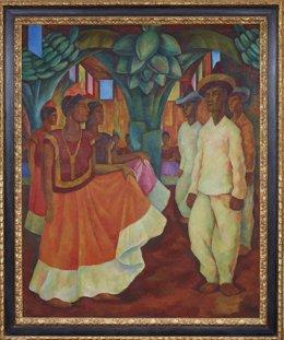 El cuadro 'Baile en Tehuantepec', de la Colección Costantini