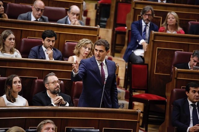 Albert Rivera y otros diputados en el Congreso