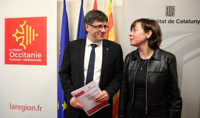 Carles Puigdemont y Carole Delga