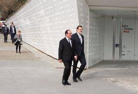 Rajoy y Hollande señalan a Málaga como símbolo de los lazos que unen España y Francia a través de la cultura
