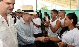El presidente colombiano proclama desde Putumayo el comienzo del desarme de las FARC