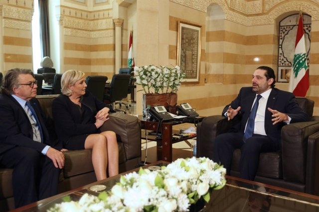 Marine Le Pen se reúne con Saad Hariri en Beirut