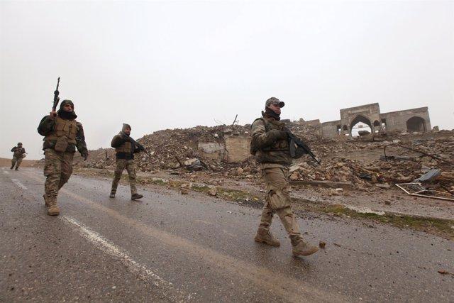 Militares en  Mosul