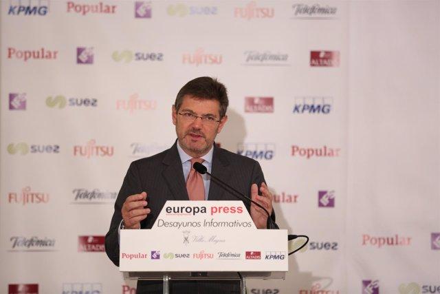 Desayuno Informativo de Europa Press con el ministro de Justicia, Rafael Catalá