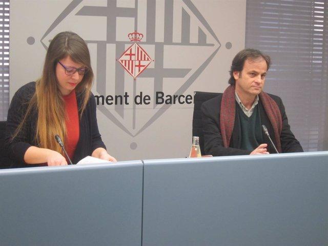 Los Tenientes De Alcalde Jaume Asens Y Janet Sanz
