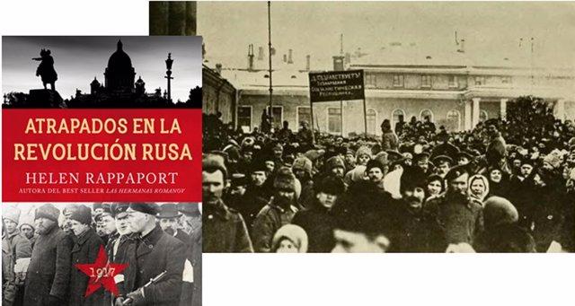 Portada de 'Atrapados en la Revolución Rusa'