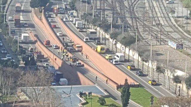 Detenido por robar un camión de butano en Ronda Litoral de Barcelona