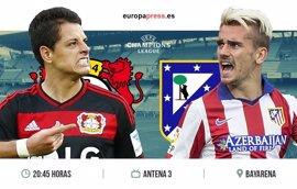 Horario y dónde ver el Bayern Leverkusen – Atlético de Madrid | Ida de octavos de final Champions League