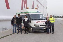 El Puerto de Motril (Granada) apoya el traslado de una ambulancia medicalizada a la zona de Nador