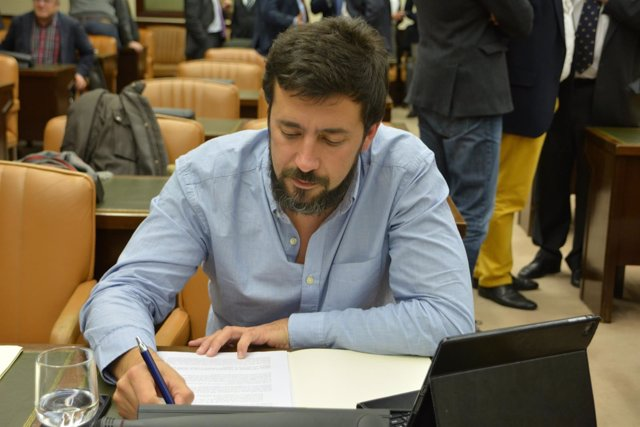 Antón Gòmez Reino, diputado de En Marea y miembro de Podemos