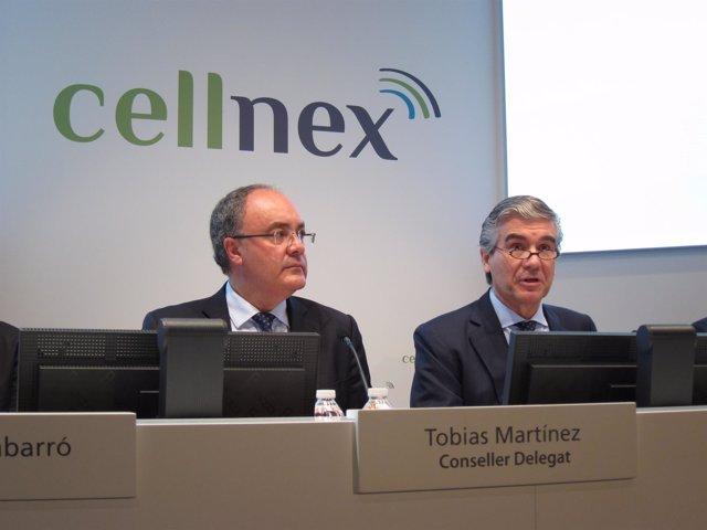 Tobías Martínez y Francisco Reynés (Cellnex Telecom)