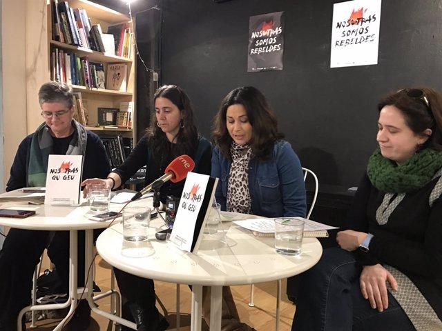Presentación del proyecto en la librería La Vorágine