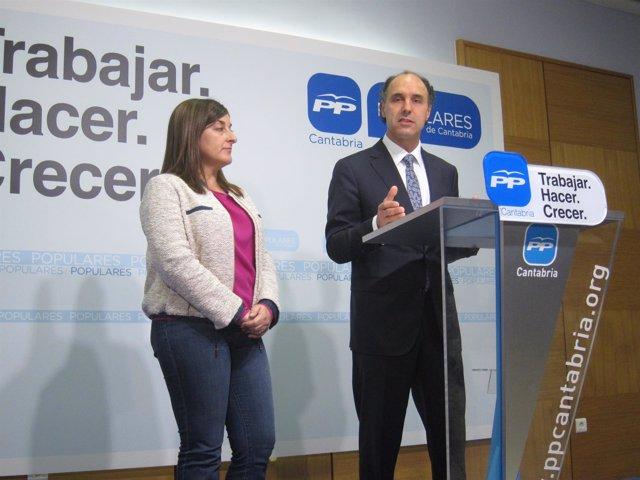 Ignacio Diego y María José Sáenz de Buruaga
