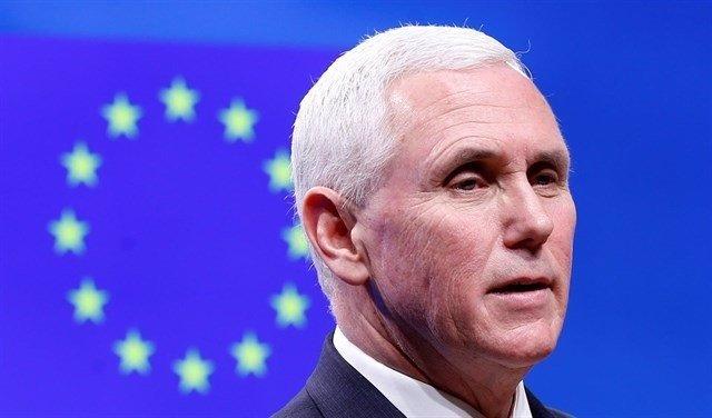 """Pence traslada a Tusk y Juncker el """"fuerte compromiso""""de Trump"""