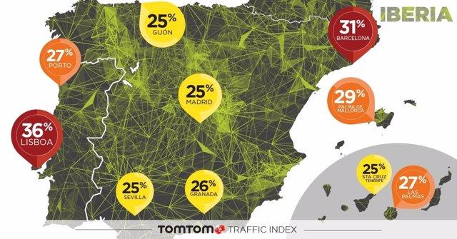 TomTom congestión ciudades