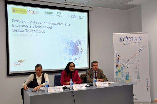 Portavoces del ICEX, Extenda y PCT Cartuja en jornadas del sector tecnológico