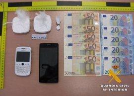 Dos detenidos en Tobarra con 1.030 dosis de cocaína previstas para su venta