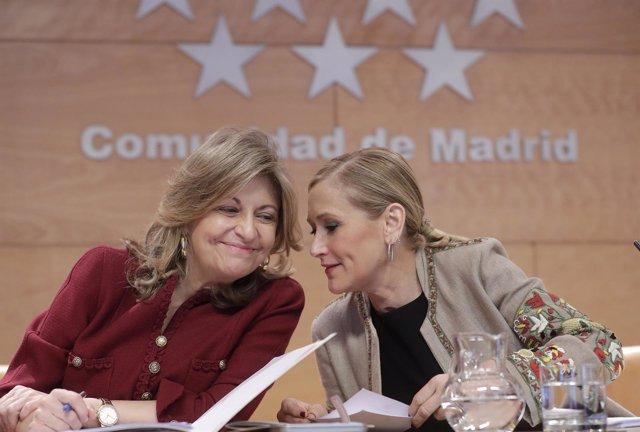 Cristina Cifuentes y Engracia Hidalgo
