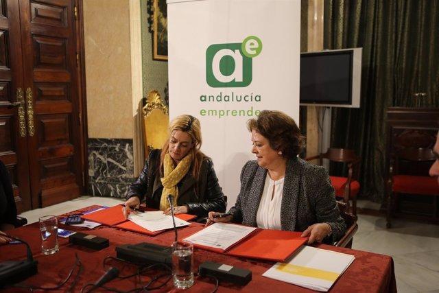 El Ayuntamiento de Sevilla firma convenio con Andalucia Emprende