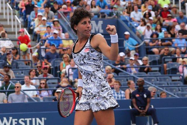 Carla Suárez gana en tercera ronda en el US Open 2016
