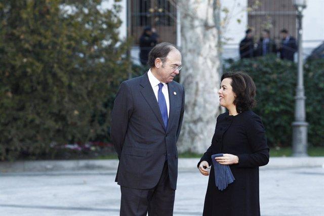 Pío García Escudero recibe a Soraya Sáenz de Santamaría