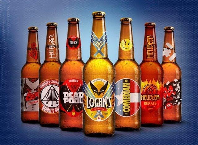Cervezas de superhéroes