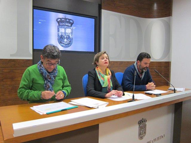 Rueda de prensa de Fernández, Taboada y Ramos para explicar sus presupuestos.
