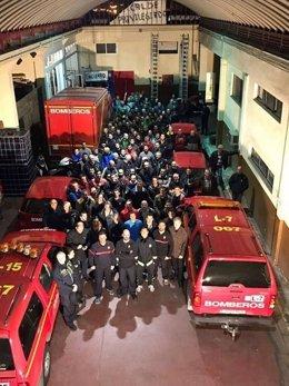 Encierro bomberos Málaga cuenta de Twitter
