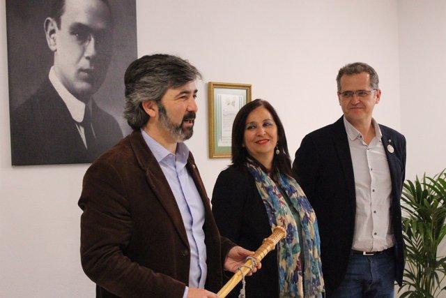 Relevo de la presidencia de la Ruta de Blas Infante a Coria del Río (Sevilla).