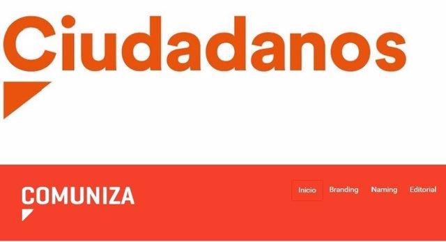 Logotipos de Ciudadanos y Comuniza
