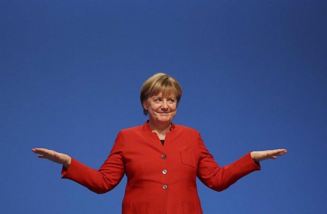 Angela Merkel en el congreso de la CDU