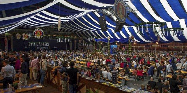 La feria de la cerveza Oktoberfest
