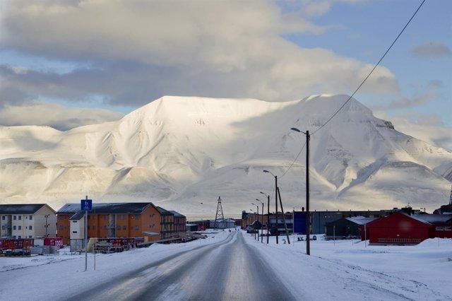 Longyearbyen, en Svalbard, en el Ártico de Noruega