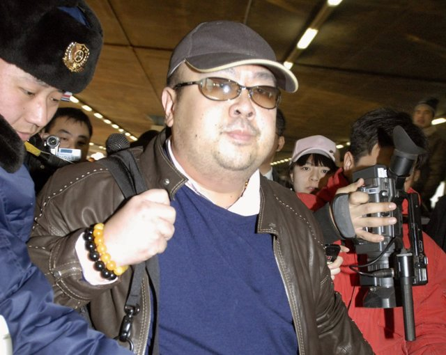 Kim Jong Nam en el aeropuerto de Pekín en 2007