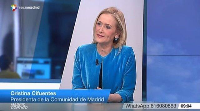 Cristina Cifuentes en Telemadrid