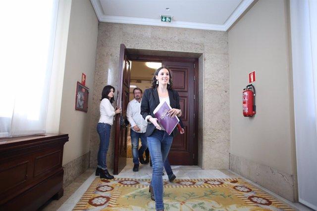 La nueva portavoz de Unidos Podemos en el Congreso, Irene Montero