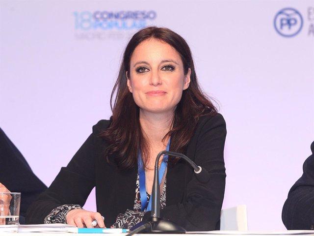 Andrea Levy durante el Congreso Nacional del PP