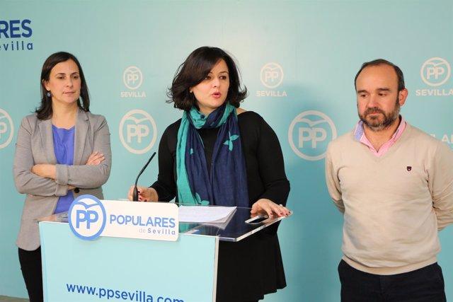 Virginia Pérez en rueda de prensa.
