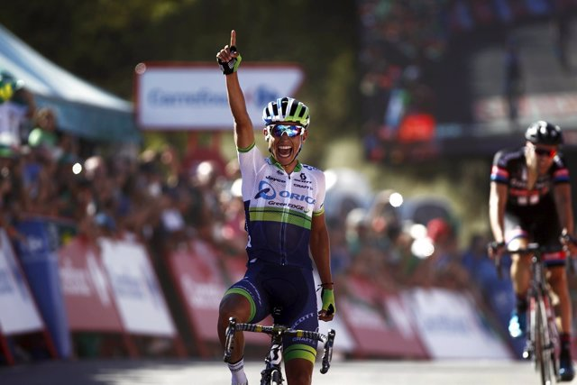 Esteban Chaves, ciclista colombiano del Orica GreenEdge