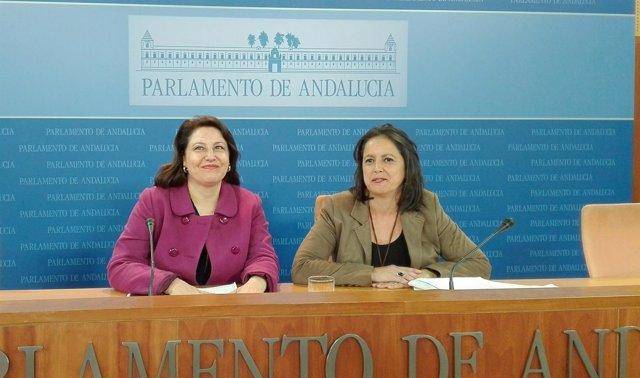 Carmen Crespo y Catalina García en rueda de prensa