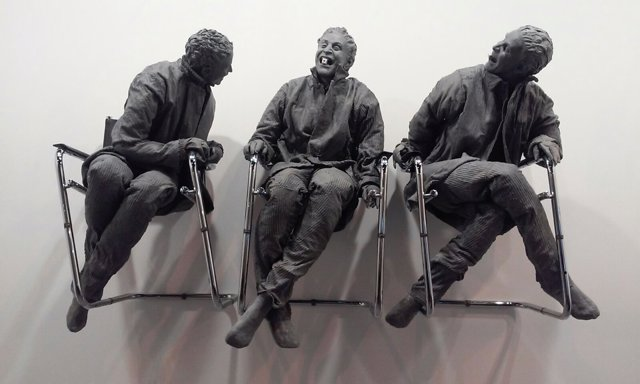 'Three Man Laughing At One', De Juan Muñoz, En ARCO