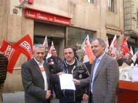 UGT y CCOO exigen a empresarios empleos dignos y aumentos salariales acordes con la salida de la crisis