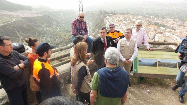 Antonio Sanz y Francisco Fuentes en las prácticas de un curso de riesgo sísmico