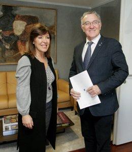 Beatriz Mato y Alfredo García (Fegamp)
