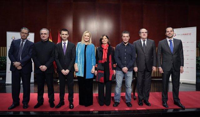 Toma de posesión del nuevo director general de Telemadrid, José Pablo López